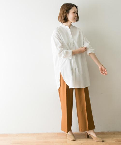 9月におすすめの白シャツの服装