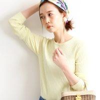 きれい色で気分を晴れやかに♡大人女子におすすめのカラートップス15選