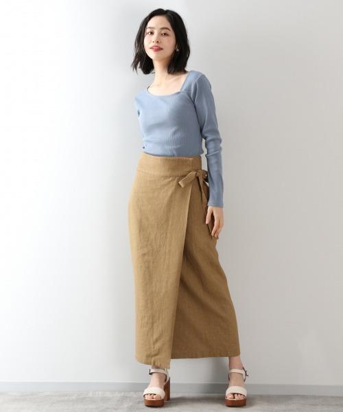 スカート×サンダル