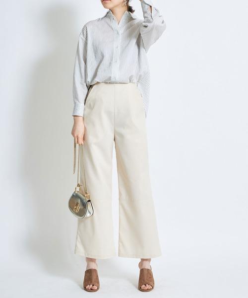 [tocco closet] 裾切り替えワイドパンツ