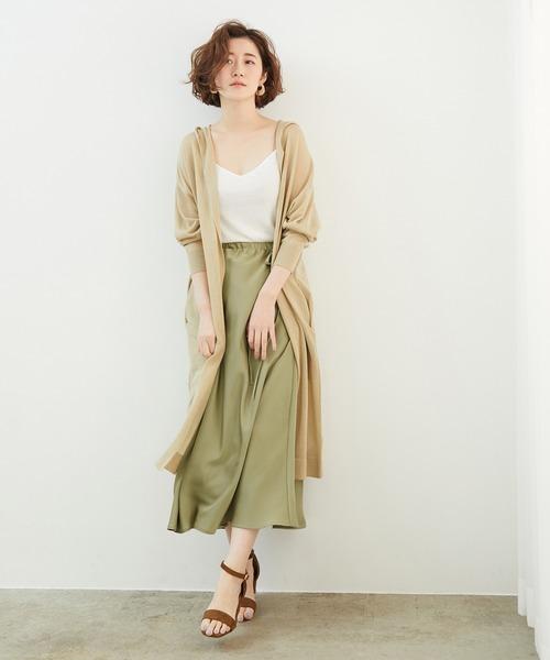 [ROPE' PICNIC] サテンサイドリボンマーメイドスカート