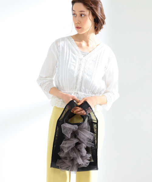 [BEAMS WOMEN] 【WEB限定】Luminarico / チュール バッグ