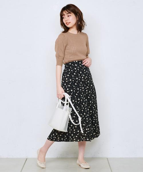 [natural couture] レトロ小花三角マチスカート