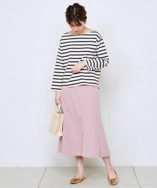 [natural couture] サイド釦6枚接ぎスカート