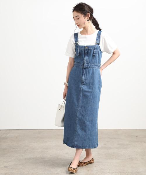 [ViS] 【Lee×ViS】デニムサロペットスカート