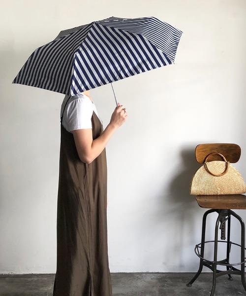 [COMMON WARE] NT:ストライプ UVカットアンブレラ  折り畳み 晴雨兼用UVカット傘