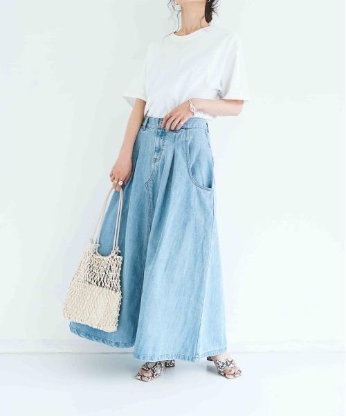 [INTER FACTORY] INTER FACTORY デニムボリュームロングスカート