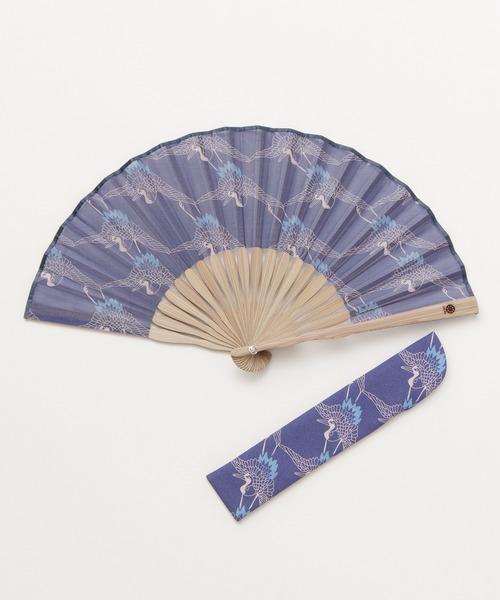 [チャイハネ] 【カヤ】ジャポニ扇子 袋付き