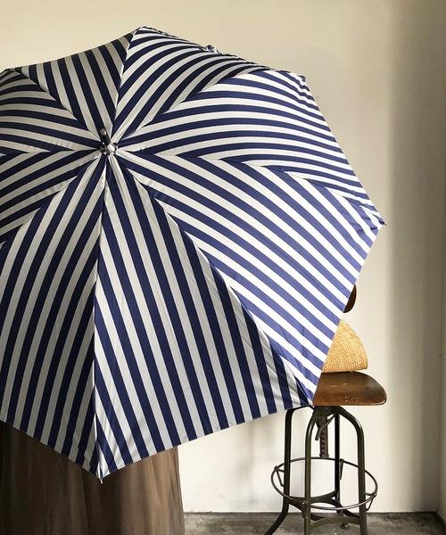 [COMMON WARE] NT:ストライプアンブレラ  晴雨兼用 日傘 長傘