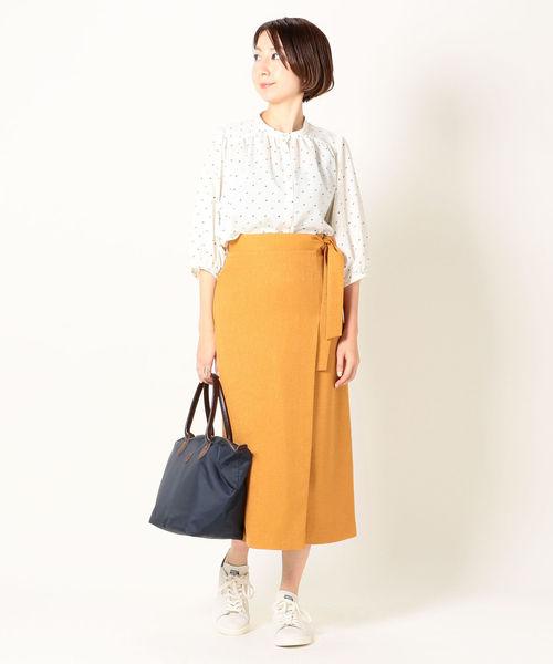 [SHIPS for women] SHIPS any:ラップライクタイトスカート◇
