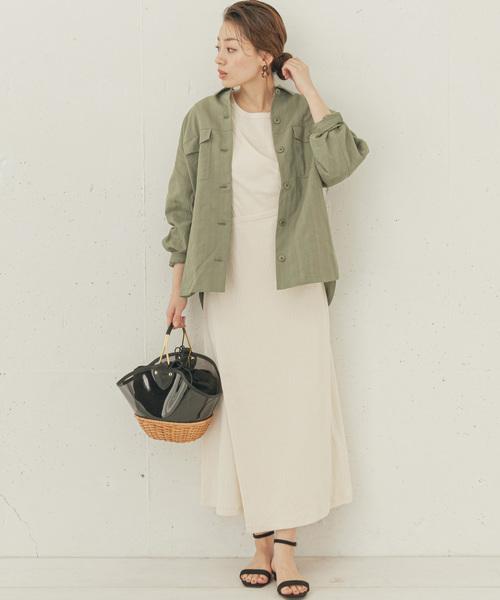 シャツジャケット×ファッションワンピース
