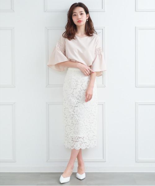 夏のフェミニンコーデ【スカート】3