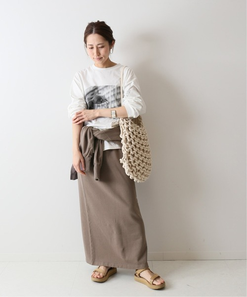 [Spick & Span] ミニ裏毛ロングスカート3◆