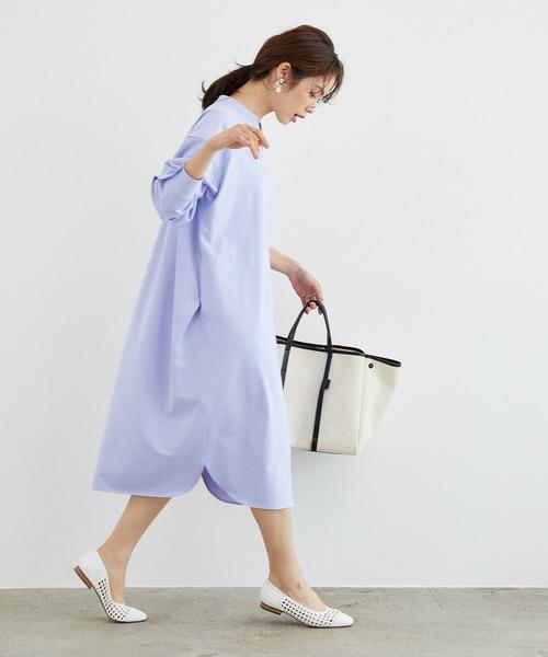 [ROPE'] 【Marisol ONLINE掲載】バンドカラーシャツワンピース