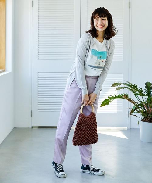 [AG by aquagirl] 【洗える/接触冷感/UVカット/美人百花5月号掲載】クルーネックカーディガン