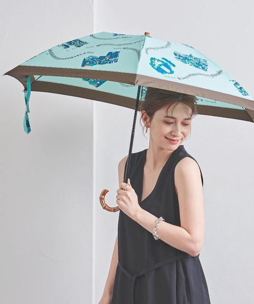 [UNITED ARROWS] <manipuri(マニプリ)>プリント 折りたたみ 晴雨兼用傘
