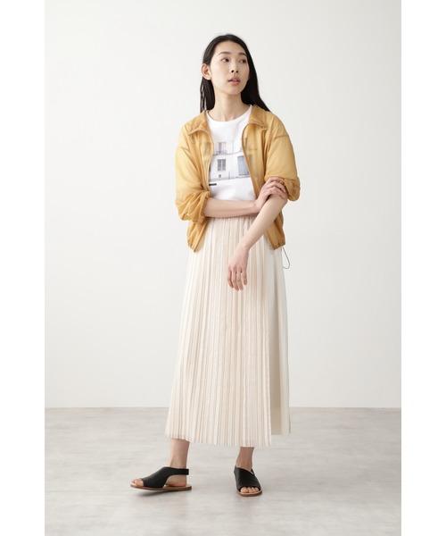 [HUMAN WOMAN] ◆オーガンジープリーツスカート