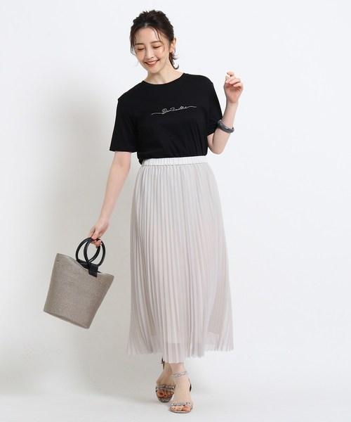 [Reflect] 【接触冷感/UVカット/洗える】コットン混ミニロゴTシャツ
