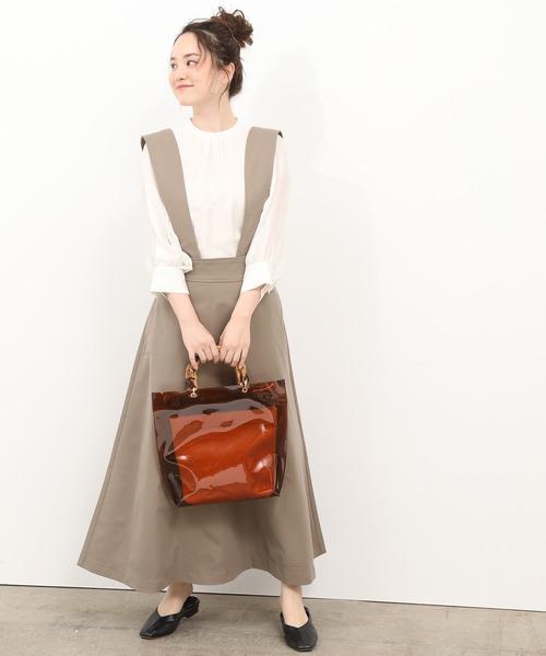 [ViS] 【WEB限定】ハイウエストジャンパースカート