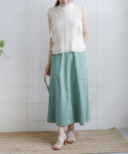 夏のフェミニンコーデ【スカート】2