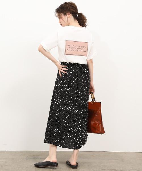 [ViS] フロント刺繍バックサテンロゴTシャツ