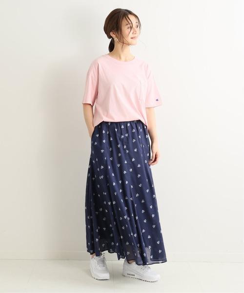 [IENA] 【Champion/チャンピオン】SLOBE別注 BIG POCKET Tシャツ◆