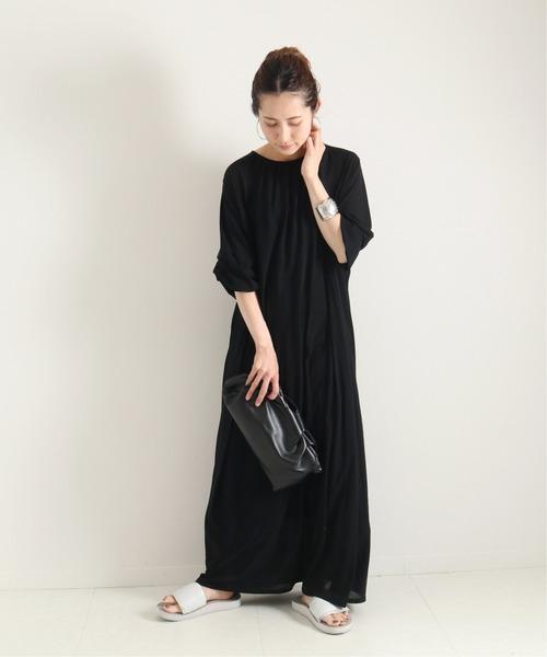 [Spick & Span] Black back open dress◆