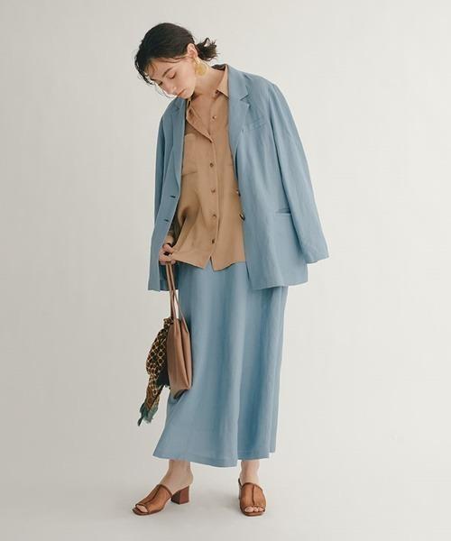 [SNIDEL] カラーリネンスカート