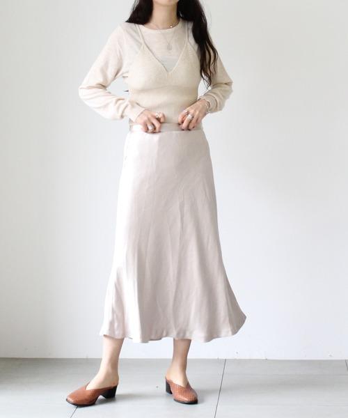 [UNRELISH] サテンマーメイドスカート
