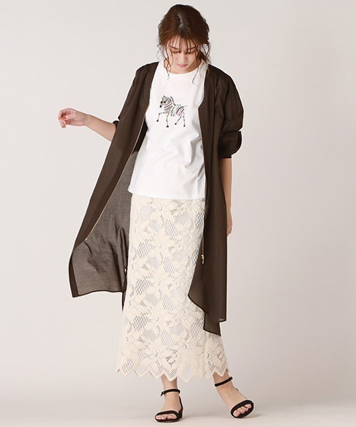 [Droite lautreamont] クラフトフラワーレーススカート
