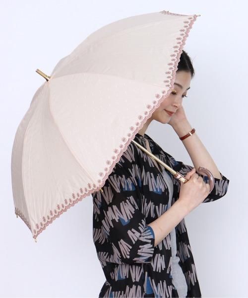 [salle de bal] 晴雨兼用 UV バリアT/C刺繍ショート傘 27077
