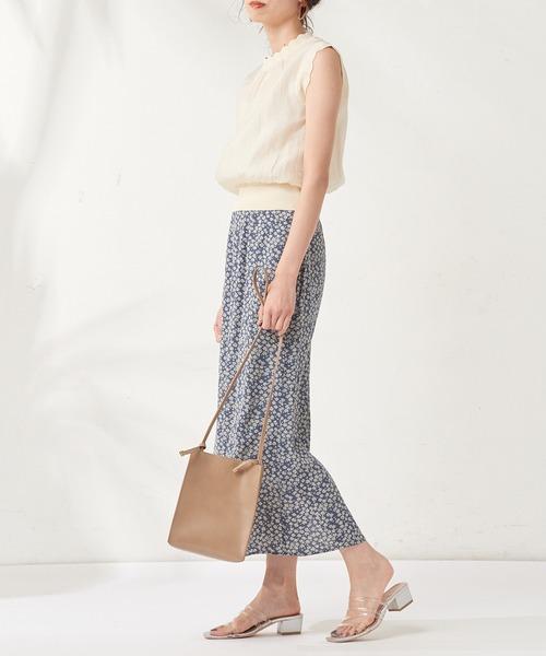 [natural couture] いろいろ柄マーメイドAラインスカート