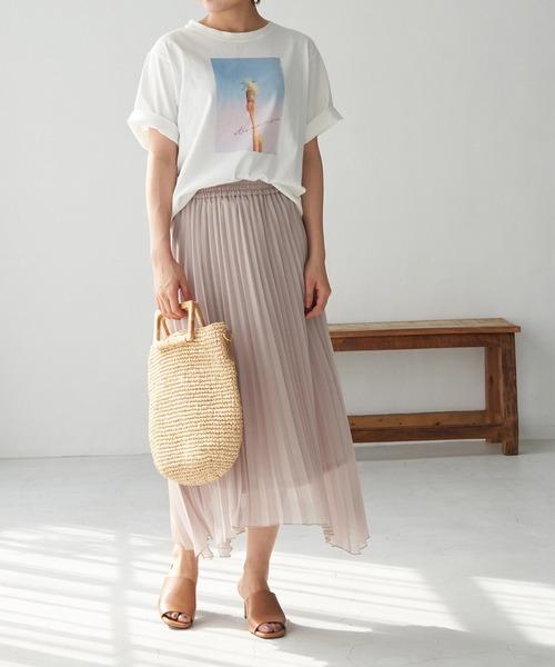 [ROPE' PICNIC] ランダムヘムスパークプリーツスカート