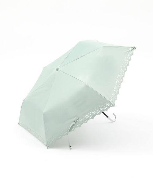 [Afternoon Tea LIVING] パンチングフラワーレース晴雨兼用折りたたみ傘 日傘