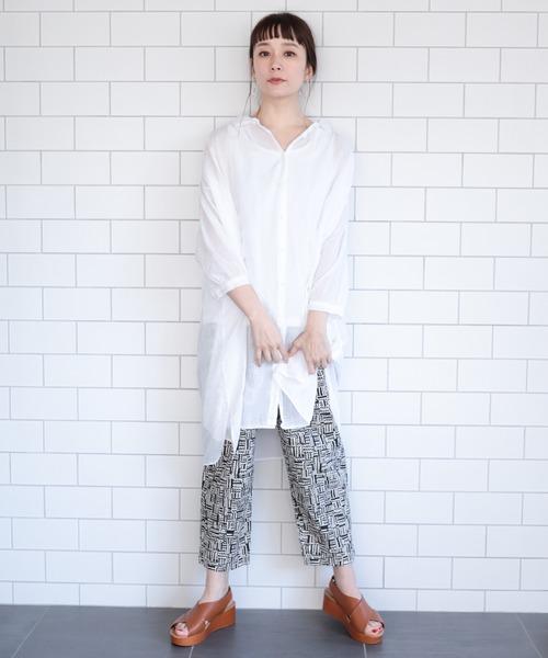 [studio CLIP] ボイル製品染めシャツワンピース
