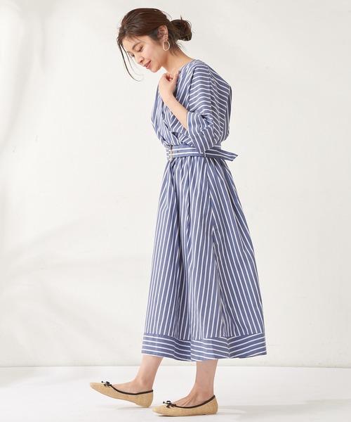 [natural couture] 2Way大人レディカシュクールワンピース