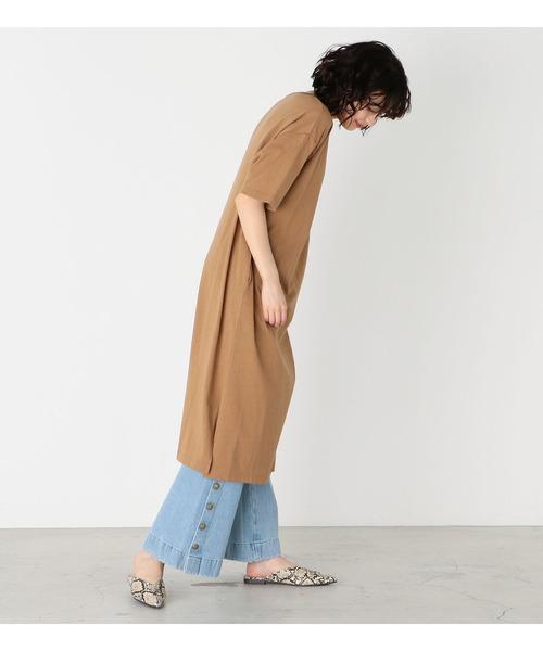 [Lee] クルーネックTシャツワンピース半袖