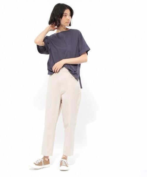 [LAKOLE] 【汗ジミ軽減】40CダブルカフワイドTシャツ2 / LAKOLE