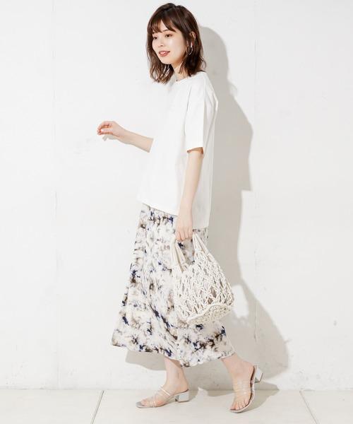 [natural couture] タイダイ柄マーメイドスカート