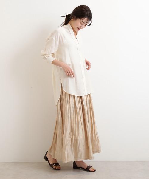[N.(N. Natural Beauty Basic)] シアービックシャツ