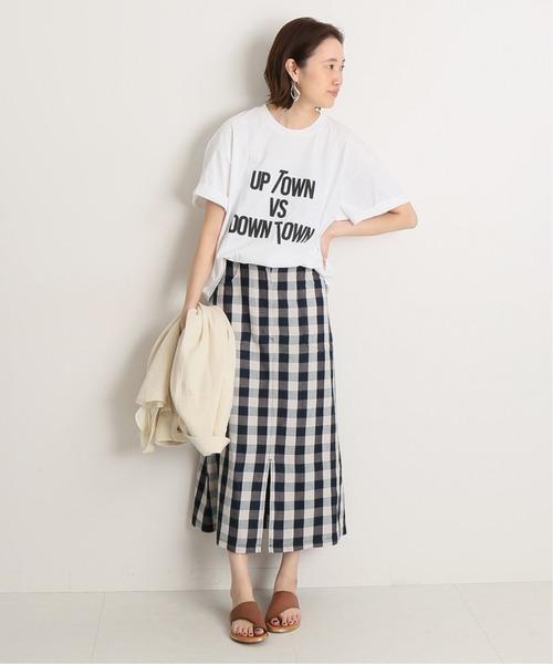 [IENA] 【GMT】SLOBE別注 UPTOWN vs DOWNTOWN Tシャツ◆