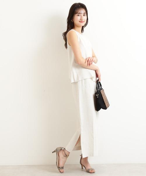 [N.(N. Natural Beauty Basic)] ◆ヘリンボンセットアップスカート