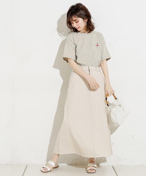[natural couture] 女の子の1日刺繍Tシャツ