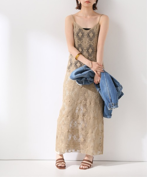 [IENA] 【CLANE/クラネ】 CLASSIC LACE CAMISOLE ワンピース◆