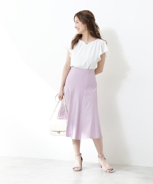 夏のフェミニンコーデ【スカート】