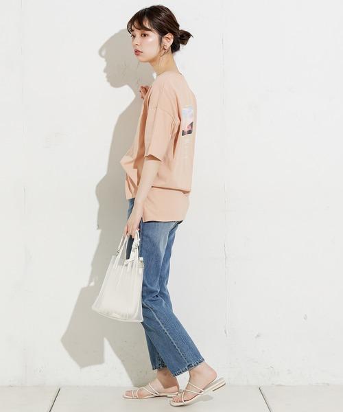 [natural couture] BACKロゴ×フォトゆるT