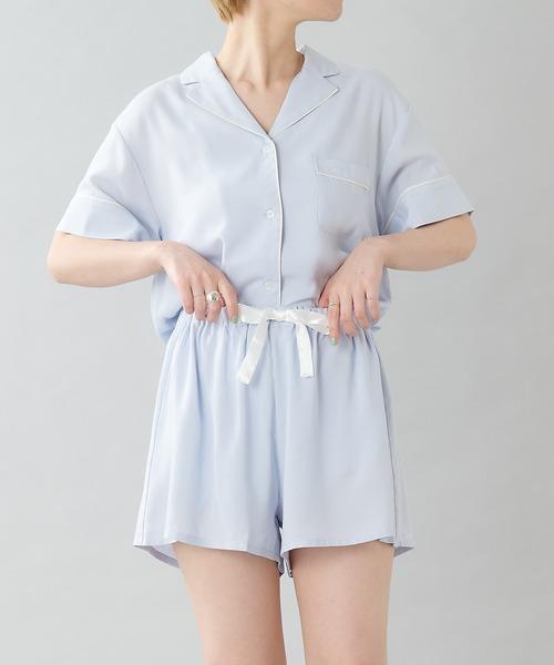 [TERRITOIRE] 【セットアップ】接触冷感半袖シャツ+ショートパンツSET