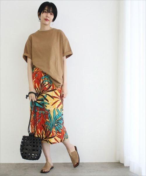 [ADAM ET ROPE'] アフリカンプリントスカート