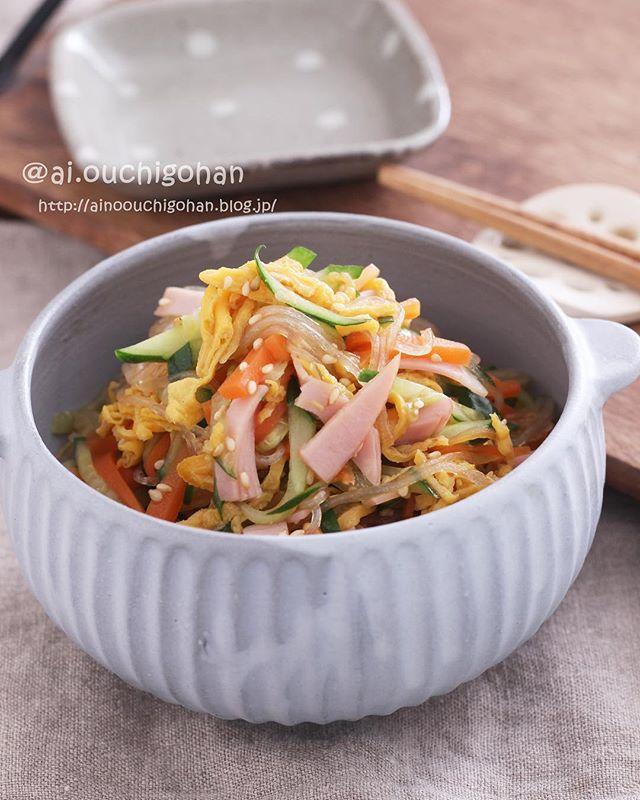 大量消費できる簡単料理!人気の春雨サラダ