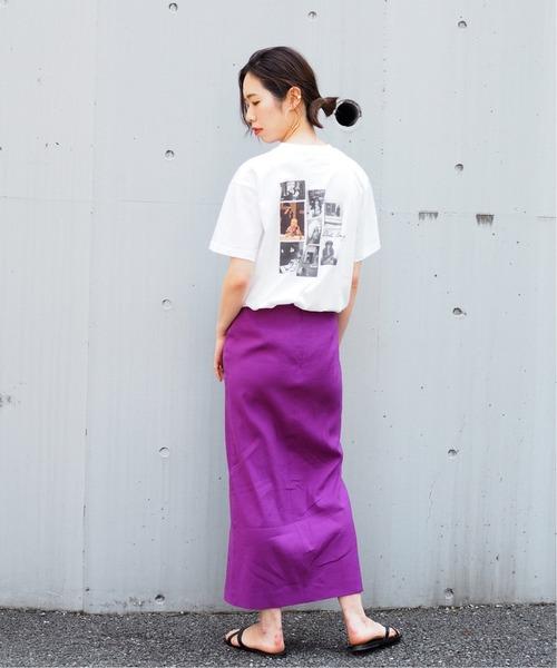 プリントTシャツ 無地スカート